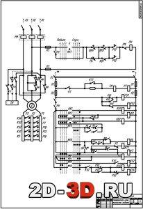 Электрическая схема мостового грейферного крана