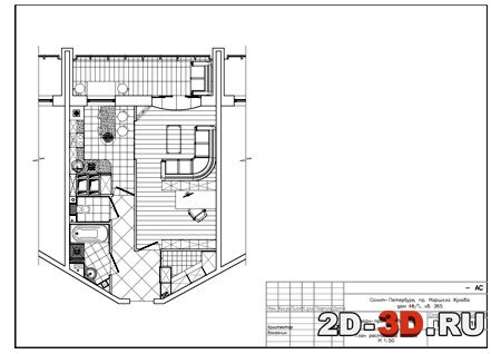 мебель для плана чертежа