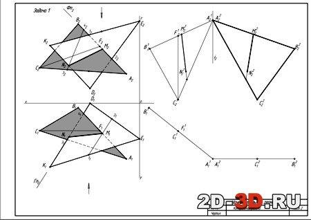 Скачать чертежам в компасе по начертательной геометрии