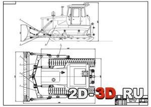 Расчеты и графическая часть со следующими листами: общий вид бульдозера, гидравлическая схема, отвал.