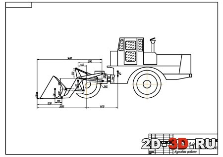 Ковш на трактор чертеж