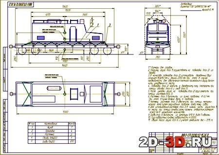 Перевозка электровоза ЭЛ-1