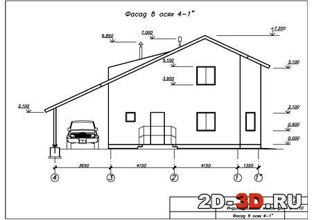 Чертежи фасады домов