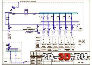 принципиальная схема распределительной сети dwg