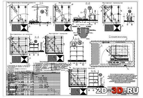 Схема монтажа здания
