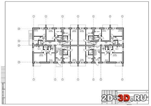 типовом этаже Схема