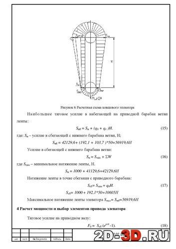 Расчетная схема ковшового