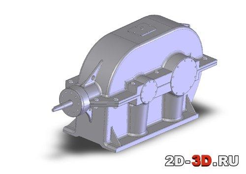 3d модель редуктора в SolidWorks Редуктор Коническо цилиндрический