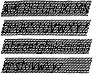 Шрифт стандартизированный относительно норм ГОСТ 2.304-81 ЕСКД.