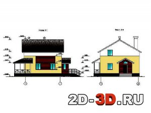 Индивидуальный жилой дом из мелких ячеистых блоков завода