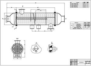 Вид теплообменника в разрезе Кожухотрубный теплообменник Alfa Laval ViscoLine VLM 15x16/102-6 Новосибирск