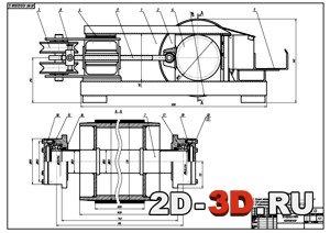 Натяжная лебедка для конвейера ленточного элеватор ленточный техническая характеристика
