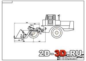 анатомическому устройство фронтального ковша погрузчика 2000-м году