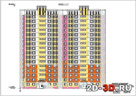 16-ти этажный сборно-панельный двухсекционный жилой дом. дип.