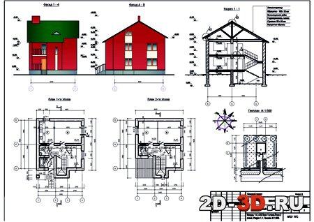 Двухэтажный жилой дом из мелкоразмерных элементов КП Двухэтажный жилой дом из мелкоразмерных элементов 2