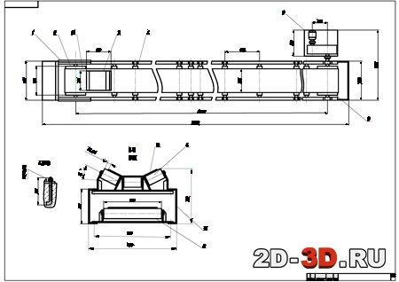 чертеж конвейера ленточного dwg