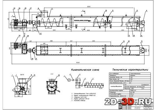 Кинематические схемы винтового конвейера лего транспортеры