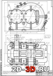 редуктор одноступенчатый горизонтальный привод ленточного конвейера