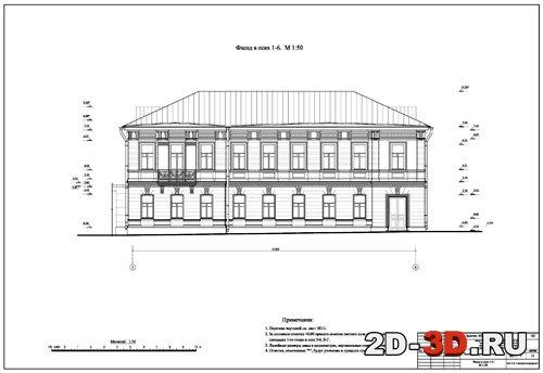 Декор фасада dwg
