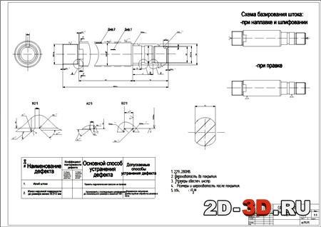 Ремонт гидроцилиндра погрузчика курсовой проект 5181
