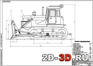 Бульдозер на базе трактора Т-170