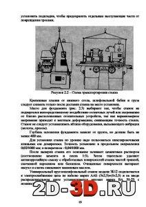 Схема транспортировки станка