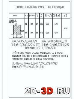 Теплотехнический расчет