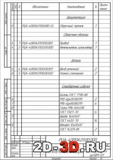 Спецификация на чертёж измельчителя