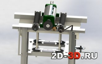 3d модель станка