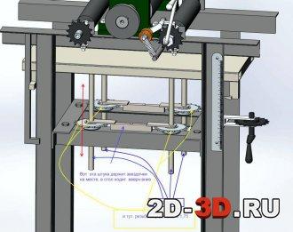 Рейсмус станок 3d модель в Solidworks