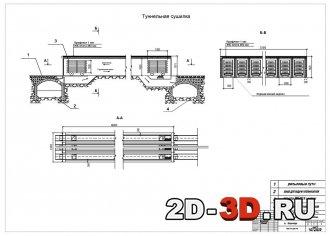 Туннельная сушилка для кирпичного завода мощностью 50 млн.шт/год.