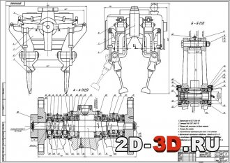 Подбивочный блок машины ВПРС-02 Сборочный чертеж