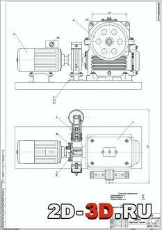 Грузоподъемный механизм пассажирского лифта г/п 320 кг