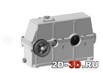 3d модель сборки редуктора в Компас-3D