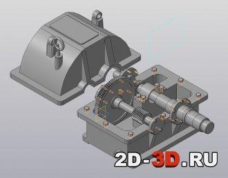 3d модель открытого редуктора