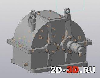 3д модель редуктора в Компас 3D