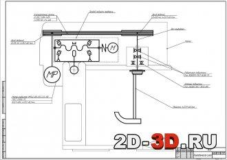 Кинематическая схема тестосмесительной машины