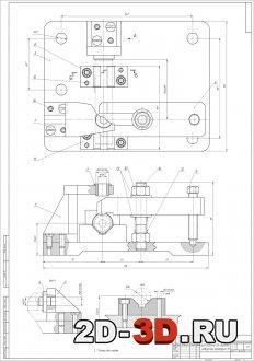 Приспособление для сверления отверстий диаметром 10 мм