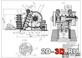 Модернизация щековой дробилкий 1,5х2,1