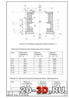 Расчет геометрических характеристик