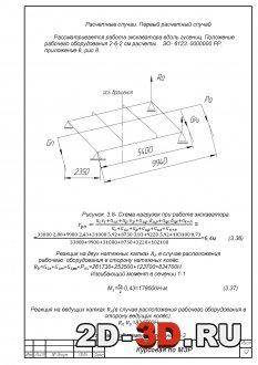 Схема нагрузок при работе экскаватора