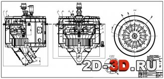 Циркуляционный двухприводной сепаратор d 5,5 метра