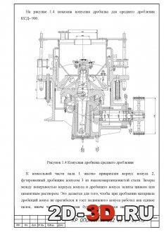 Конусная дробилка КСД-900