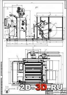 Чертёж бобинорезательная машина для полимерной пленки