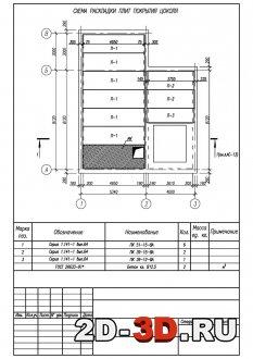 Схема раскладки плит покрытия цоколя