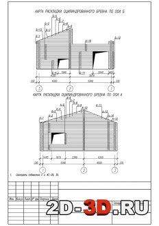 Схема монтажа и установки брёвен