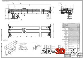 Мостовой двухбалочный кран грузоподъёмностью 32 тонны