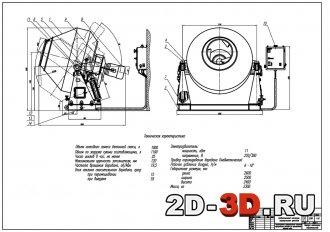Гравитационный бетоносмеситель чертежи и расчёты