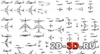 Библиотека самолетов для AutoCAD