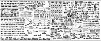 Автомобили для AutoCAD блоки